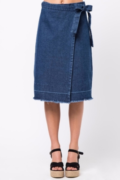 Shoptiques Product: Denim Wrap Skirt