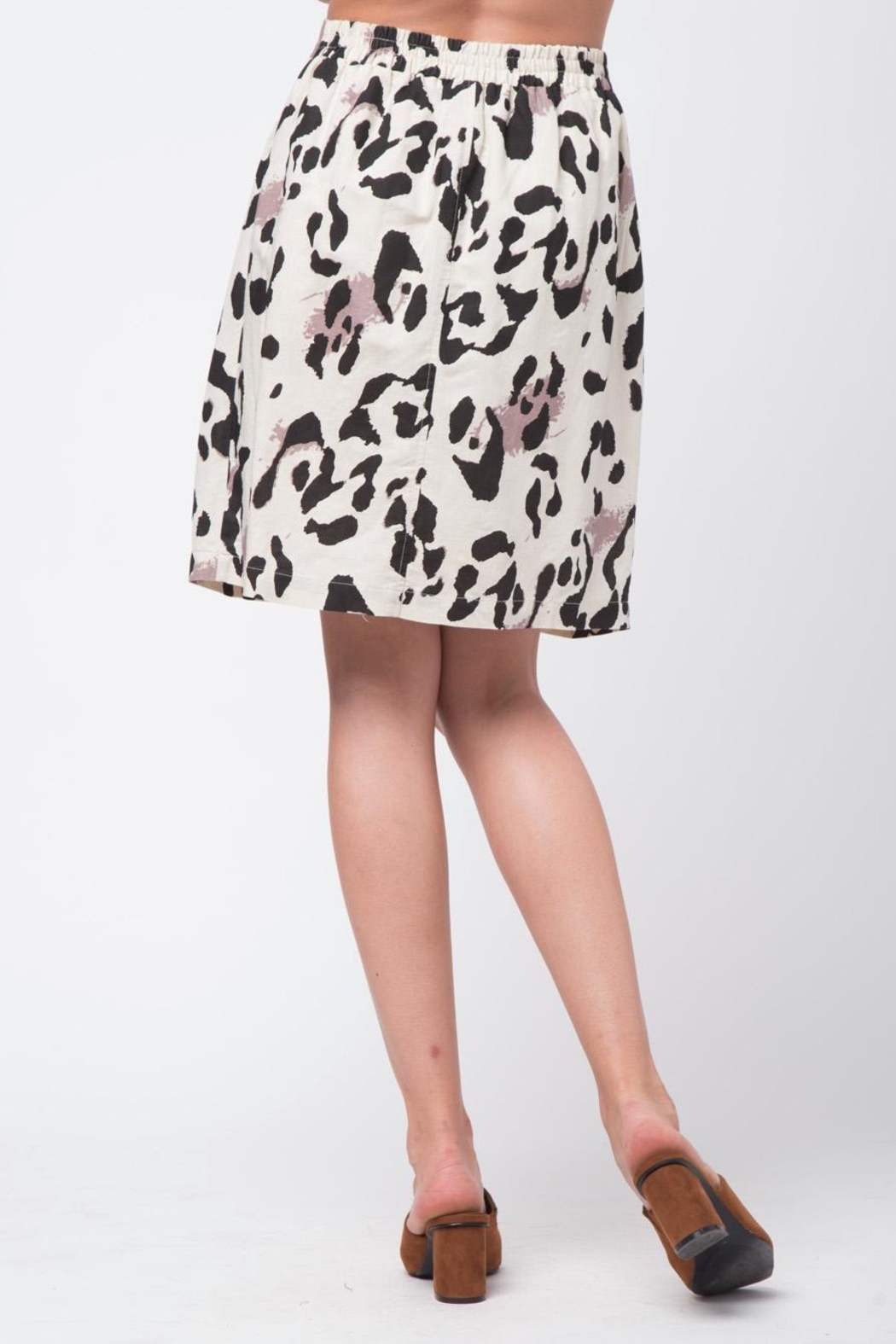 Movint Double Layer Linen Skirt - Side Cropped Image