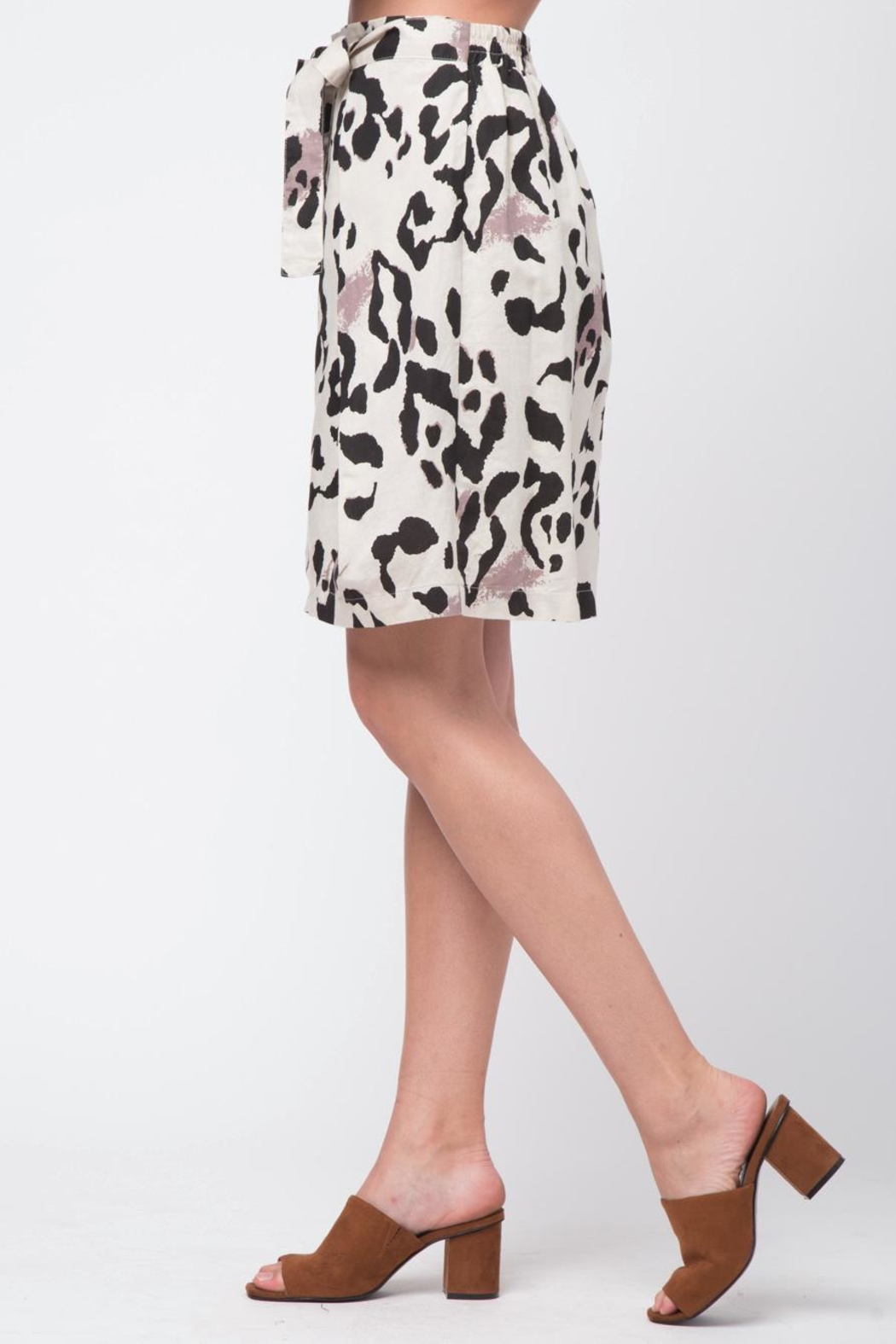 Movint Double Layer Linen Skirt - Front Full Image