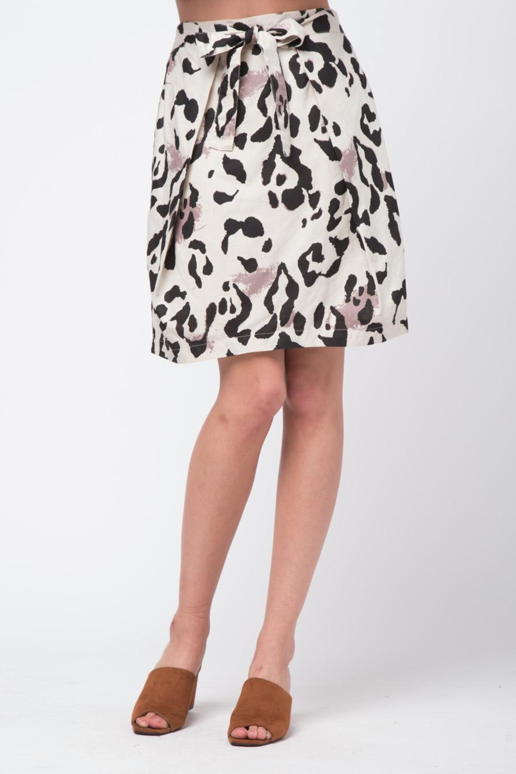 Movint Double Layer Linen Skirt - Main Image