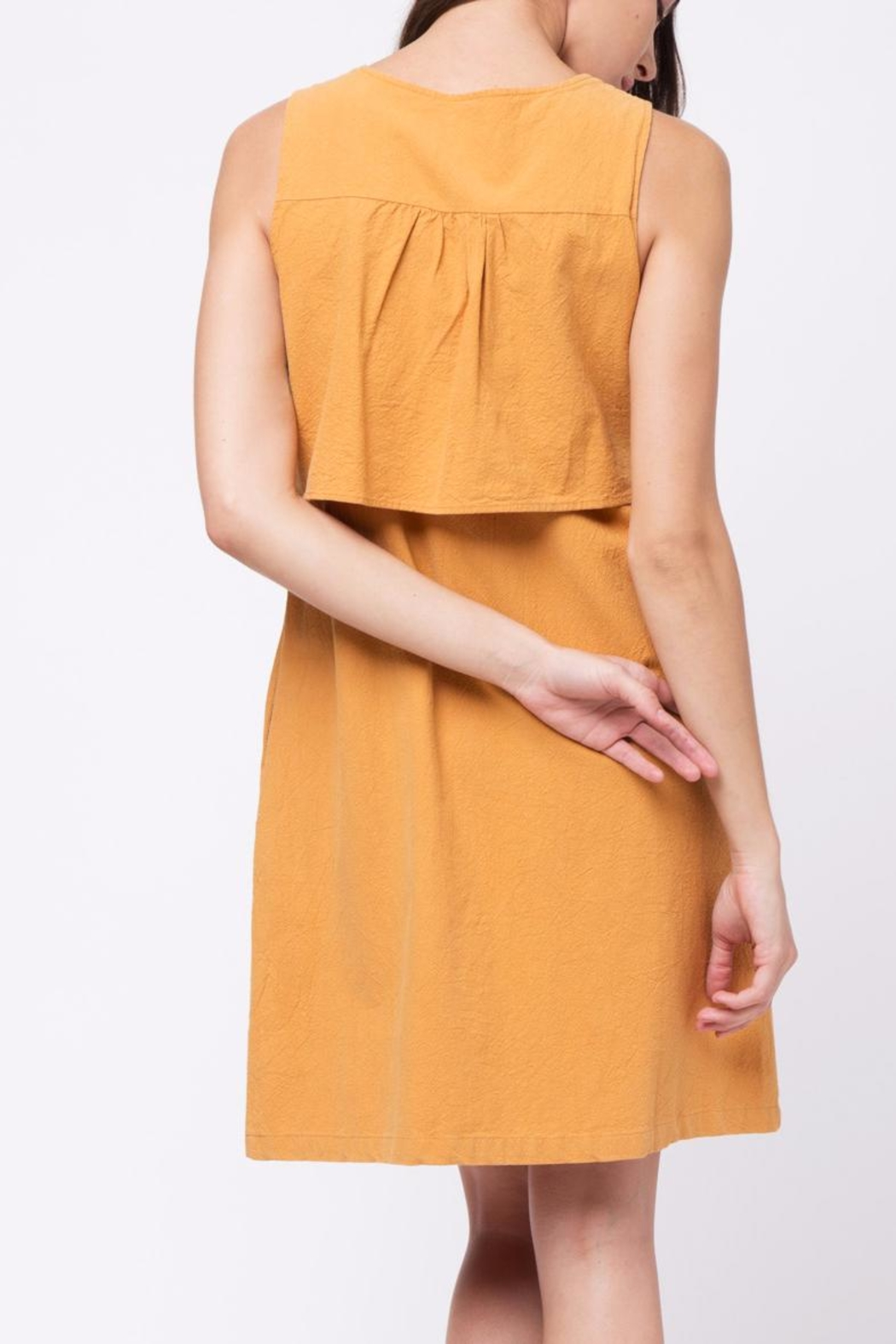 Movint Double Layered Top Dress - Back Cropped Image