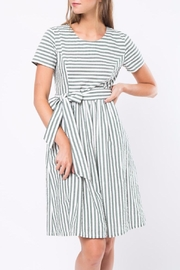 Movint Stripe Dress With Tie Belt - Front cropped