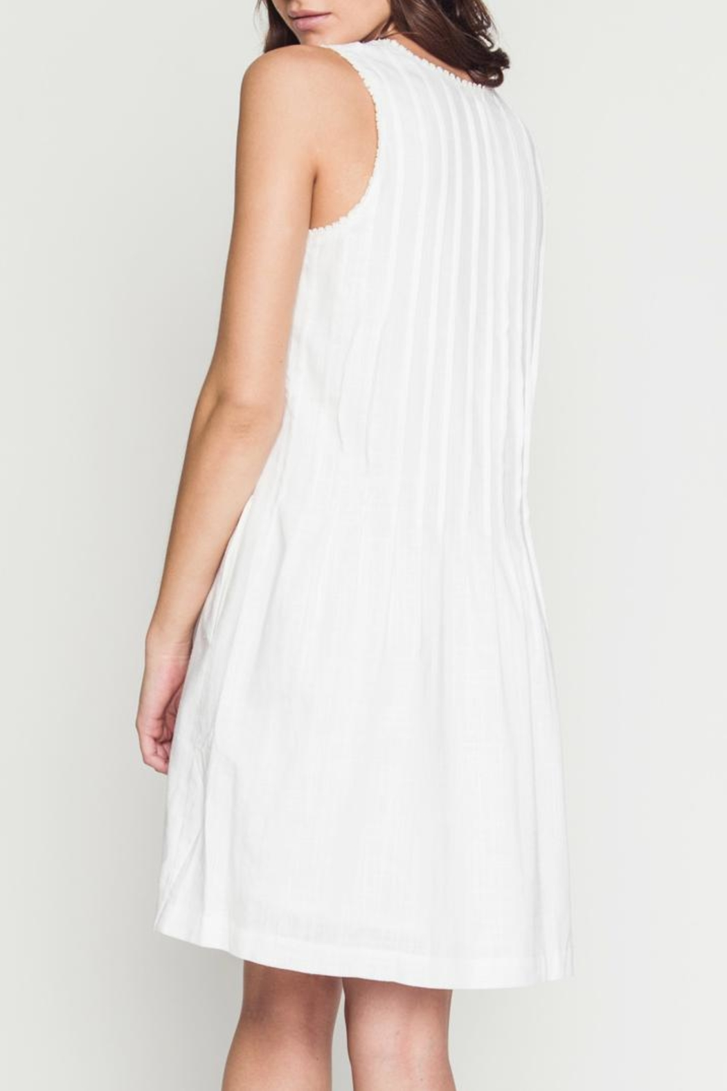 Movint Dress With Pintuck Detail - Side Cropped Image