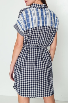 Movint Button-Down Checkered Dress - Alternate List Image