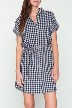 Movint Button-Down Checkered Dress - Product List Image