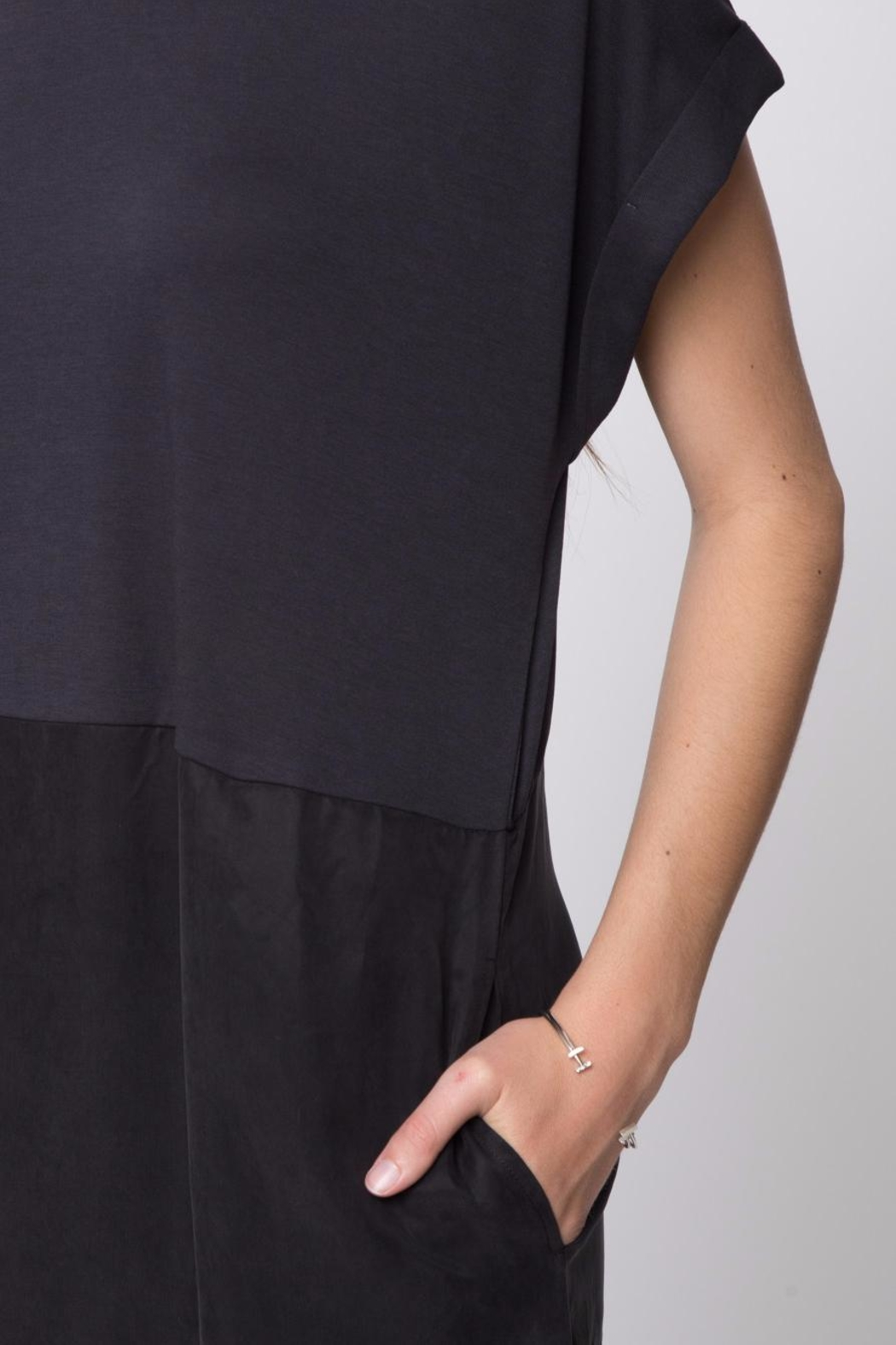 Movint Drop Shoulder Dress - Back Cropped Image