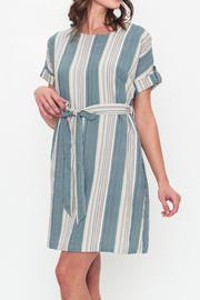 Movint Drop Shoulder Dress With Belt - Product Mini Image
