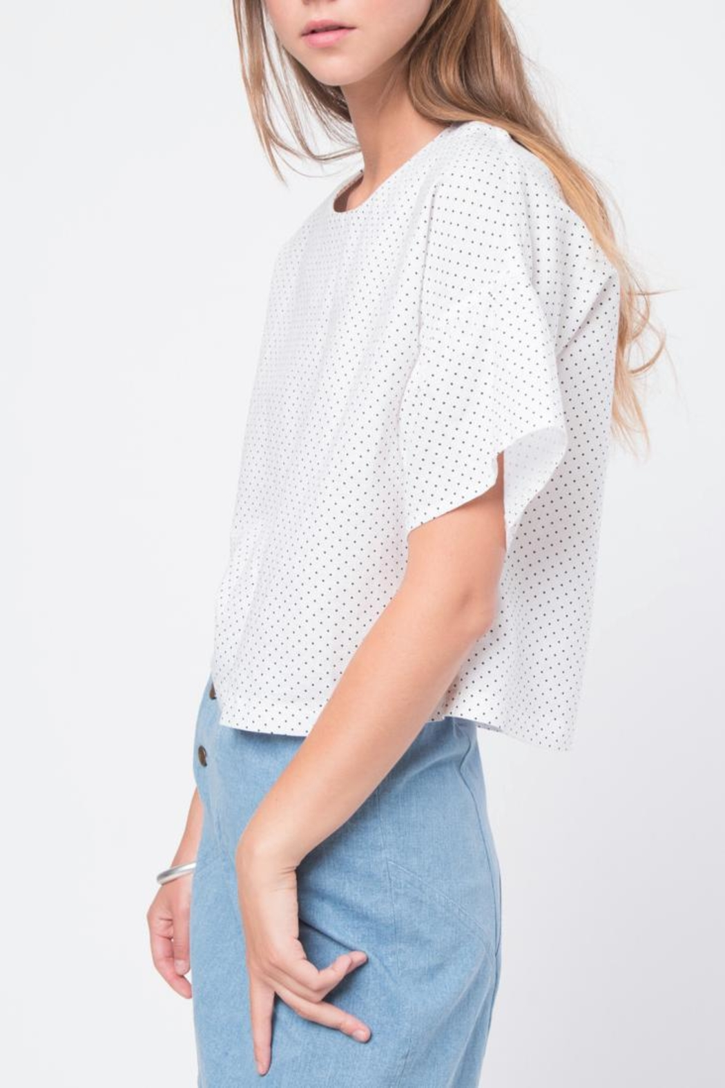 Movint Ruffled Sleeve Top - Front Full Image