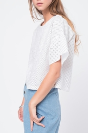 Movint Ruffled Sleeve Top - Front full body