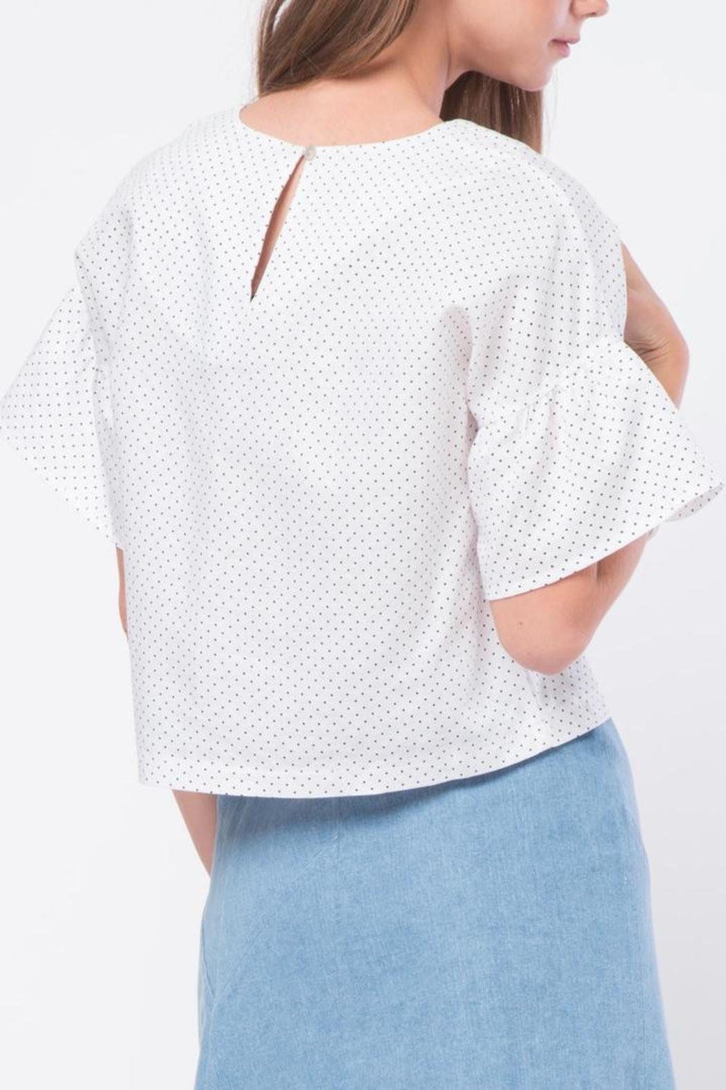 Movint Ruffled Sleeve Top - Side Cropped Image
