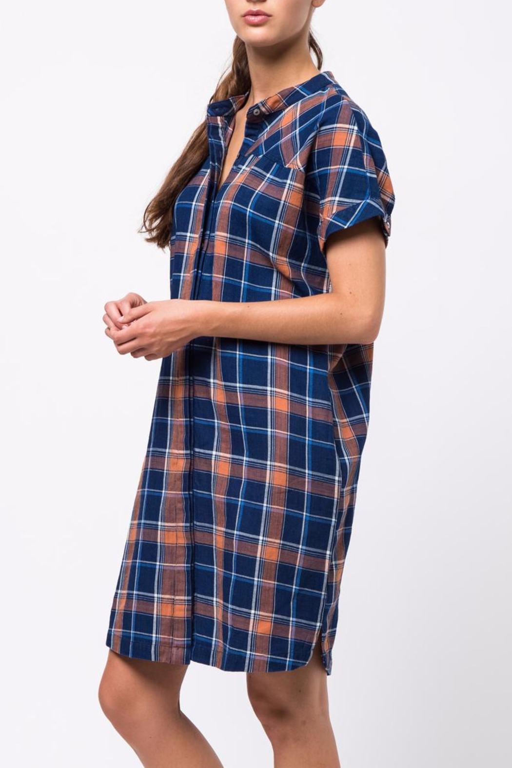 Movint Drop Shoulder Shirt Dress - Side Cropped Image