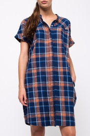 Movint Drop Shoulder Shirt Dress - Back cropped