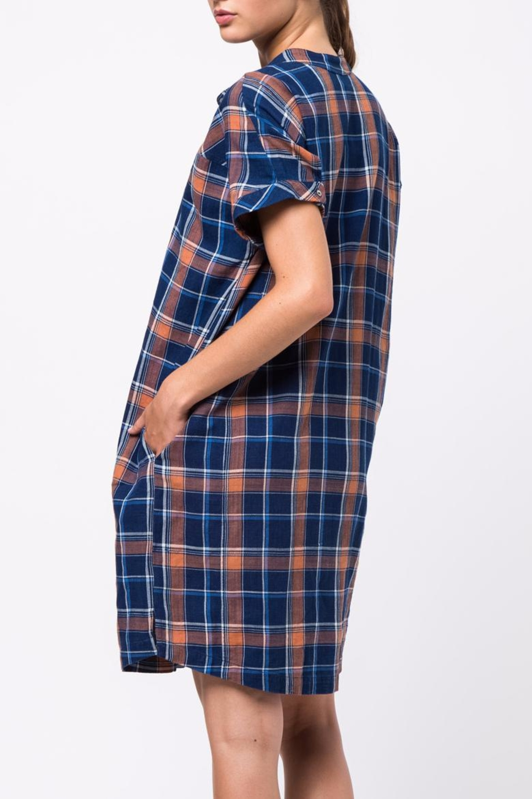 Movint Drop Shoulder Shirt Dress - Front Full Image