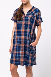 Movint Drop Shoulder Shirt Dress - Front cropped