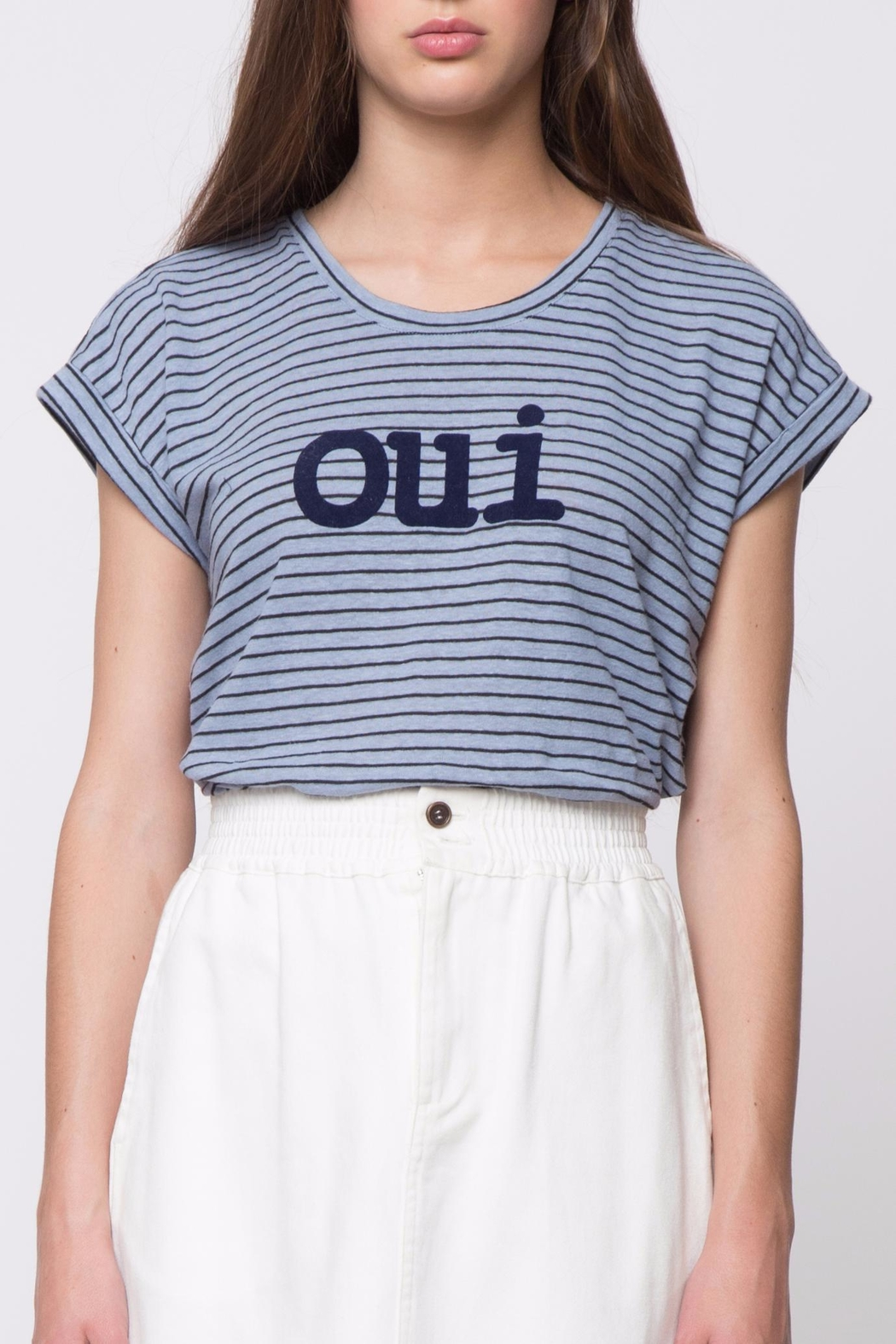 Movint Striped Tee - Front Cropped Image