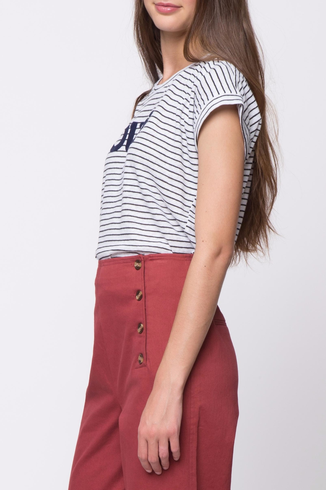 Movint Striped Tee - Side Cropped Image