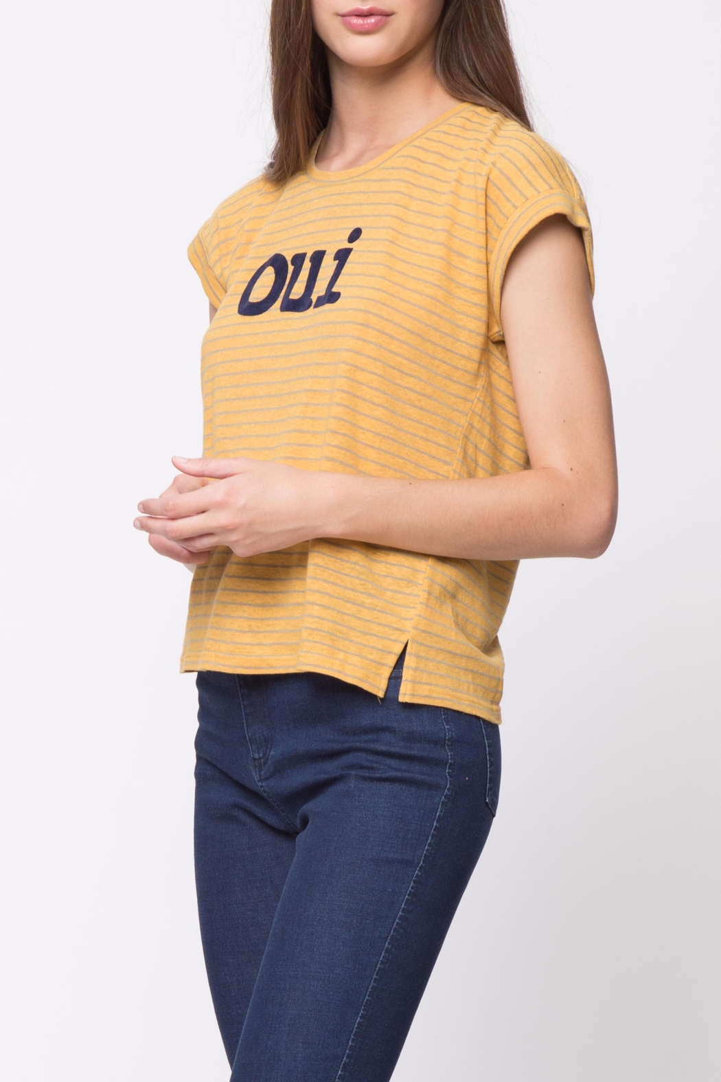 Movint Striped Tee - Back Cropped Image