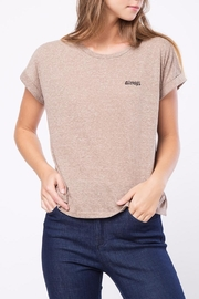 Movint Shoulder Tee With Embroidery - Product Mini Image