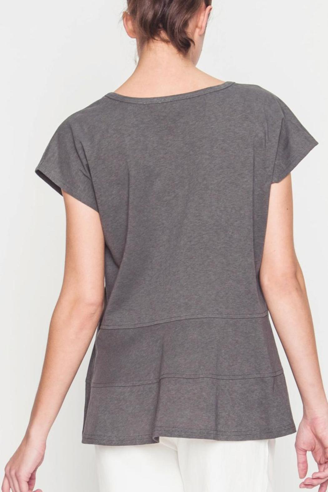 Movint Drop Shoulder Tiered Tee - Side Cropped Image
