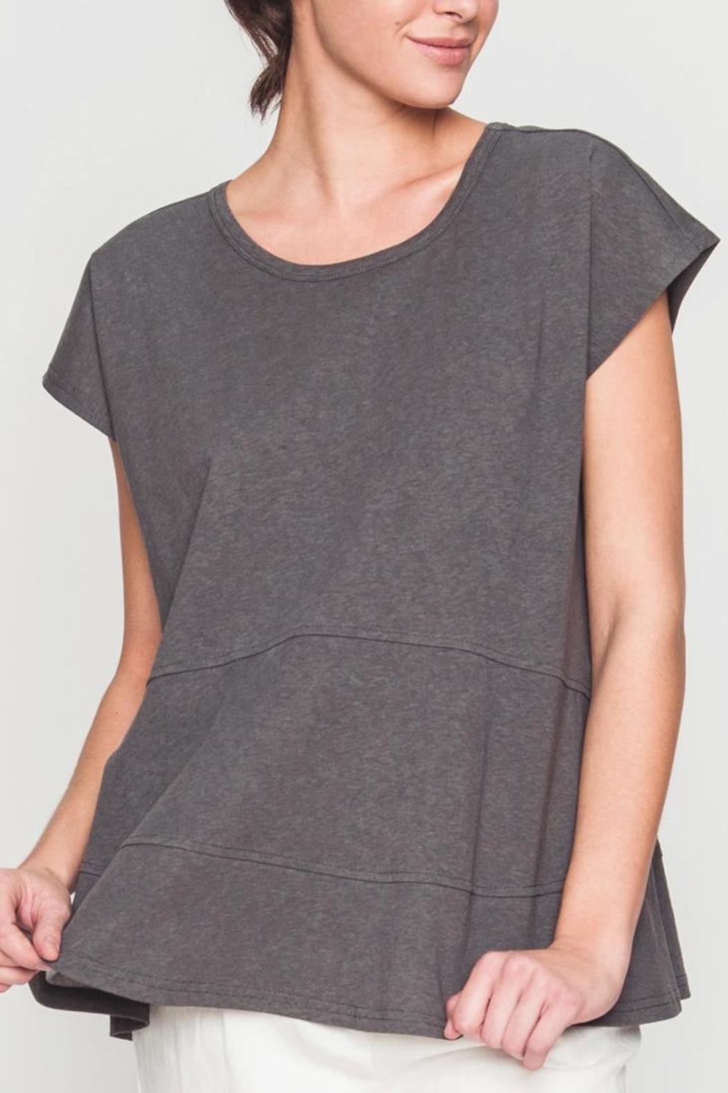 Movint Drop Shoulder Tiered Tee - Front Cropped Image