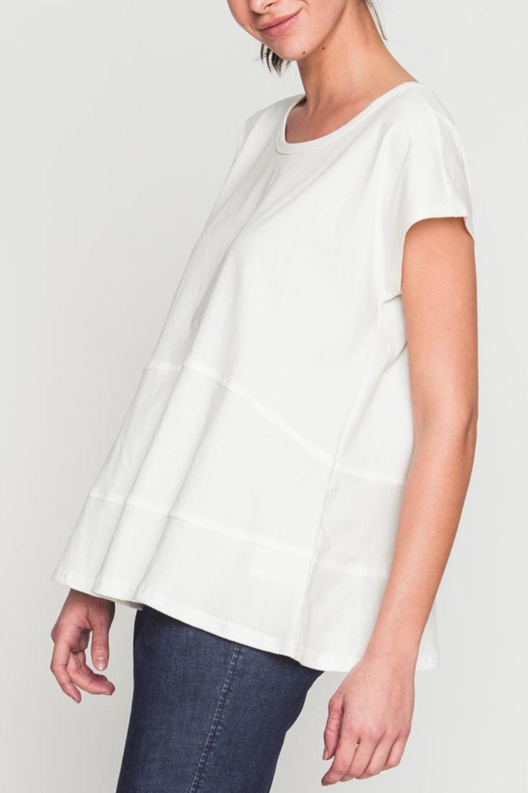Movint Drop Shoulder Tiered Tee - Front Full Image