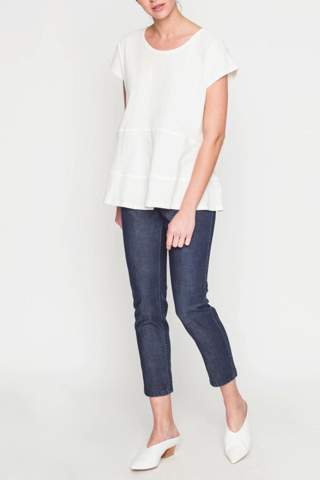 Movint Drop Shoulder Tiered Tee - Back Cropped Image