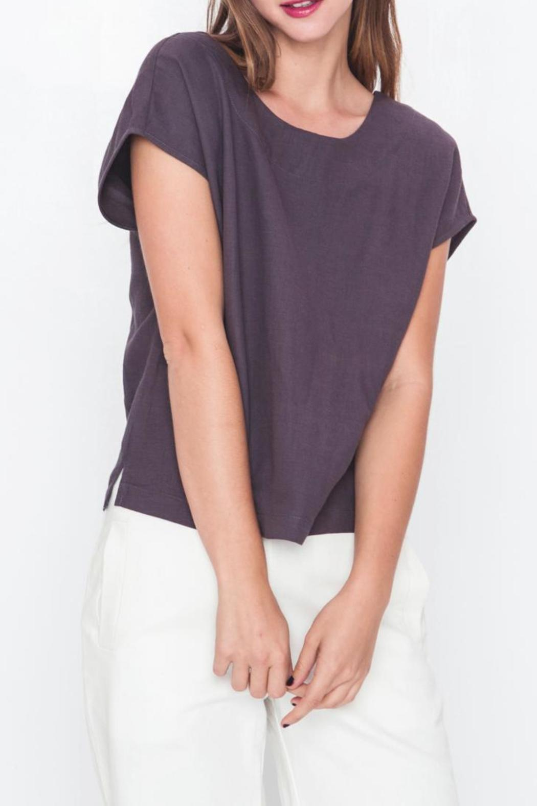 Movint Drop Shoulder Top - Front Full Image