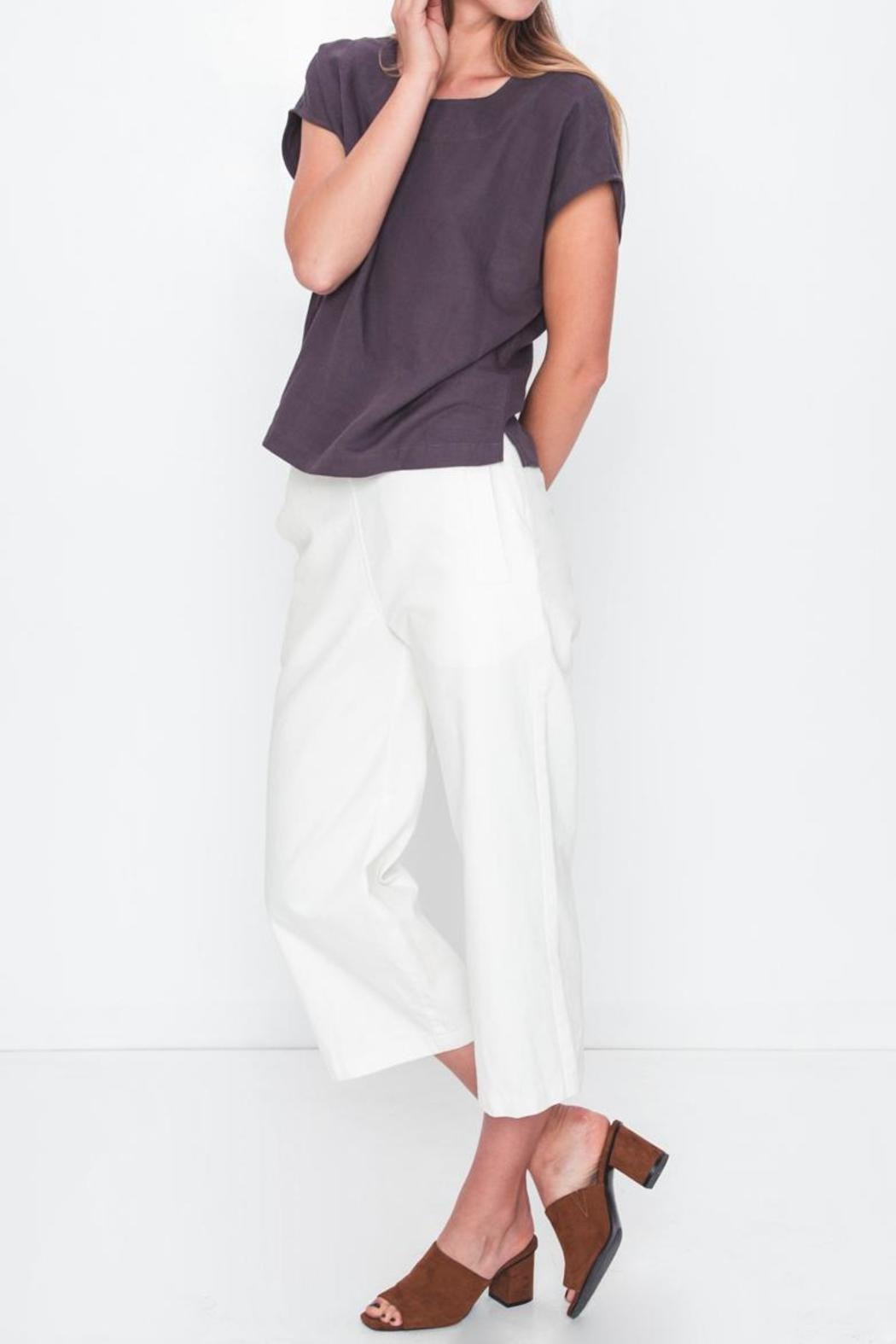 Movint Drop Shoulder Top - Side Cropped Image