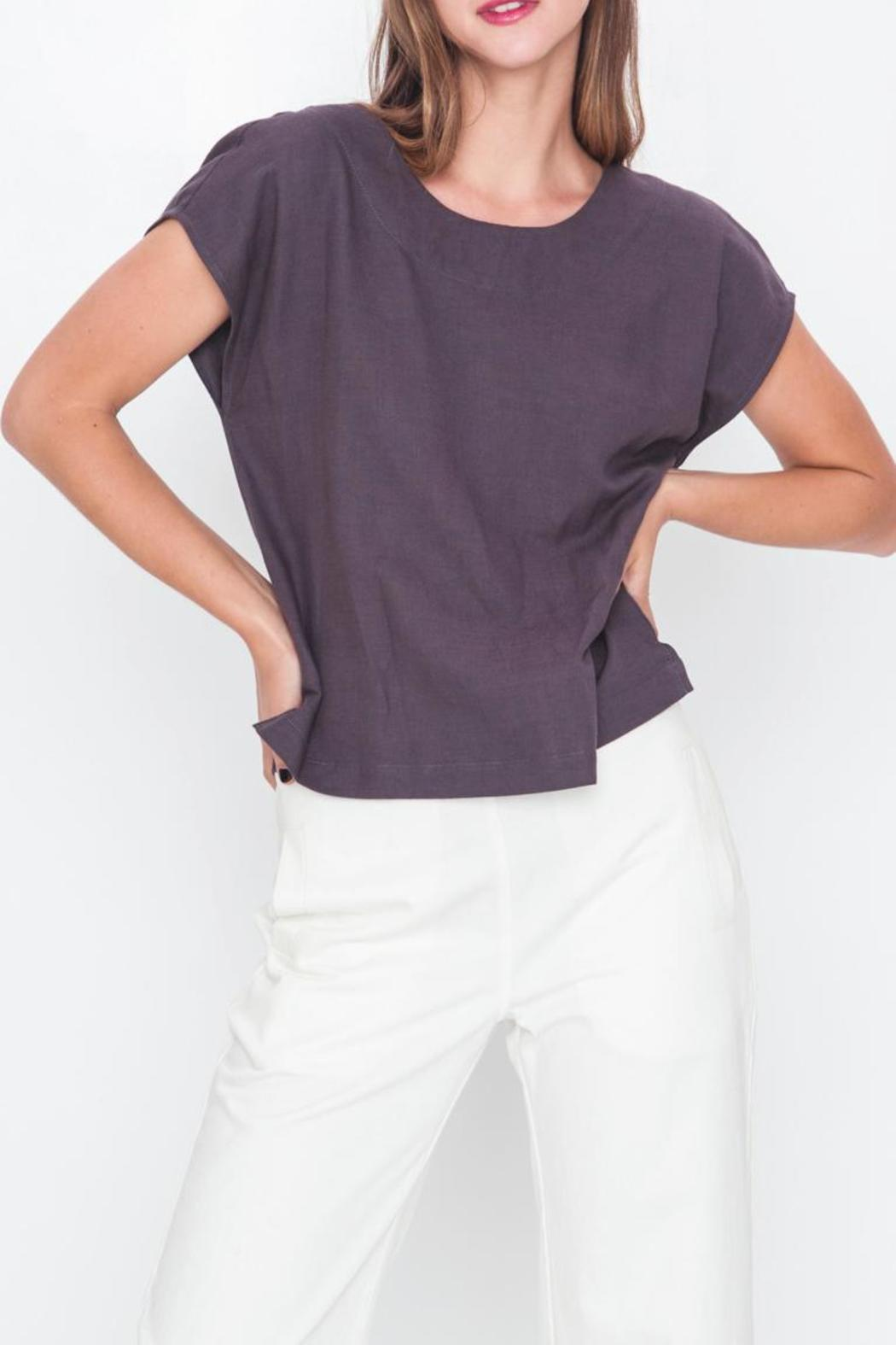 Movint Drop Shoulder Top - Front Cropped Image