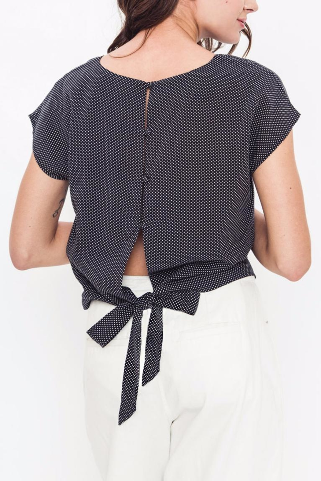 Movint Drop Shoulder Tie Top - Side Cropped Image