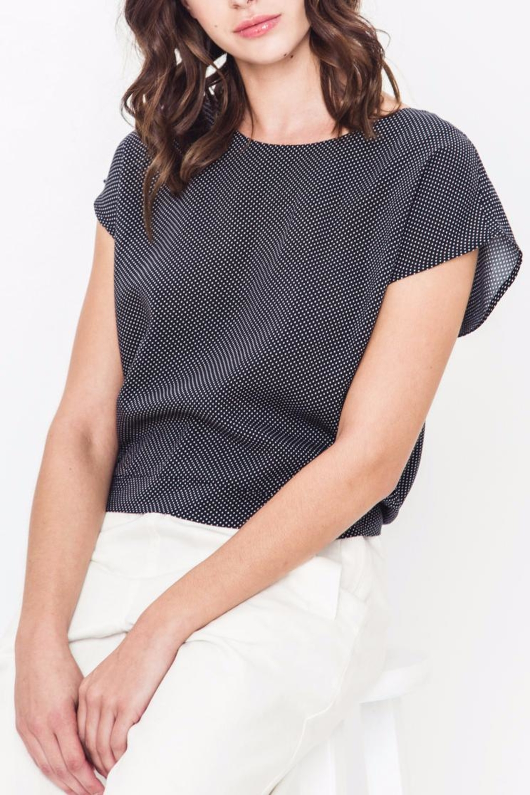 Movint Drop Shoulder Tie Top - Main Image