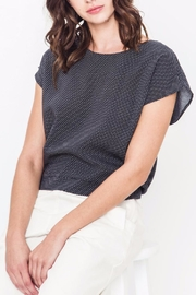 Movint Drop Shoulder Tie Top - Front cropped