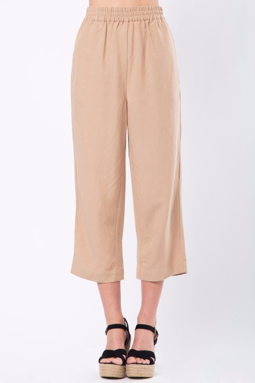 Movint Cropped Pants with Elastic Waist - Main Image