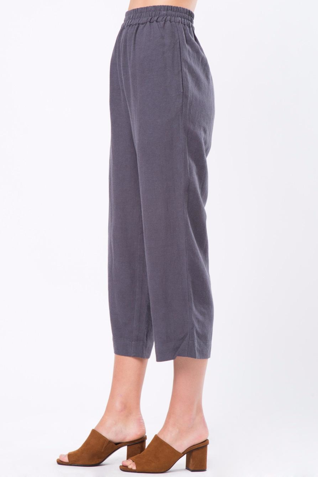 Movint Cropped Pants with Elastic Waist - Side Cropped Image
