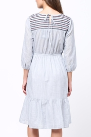 Movint Embriodery Shirring Dress - Front full body