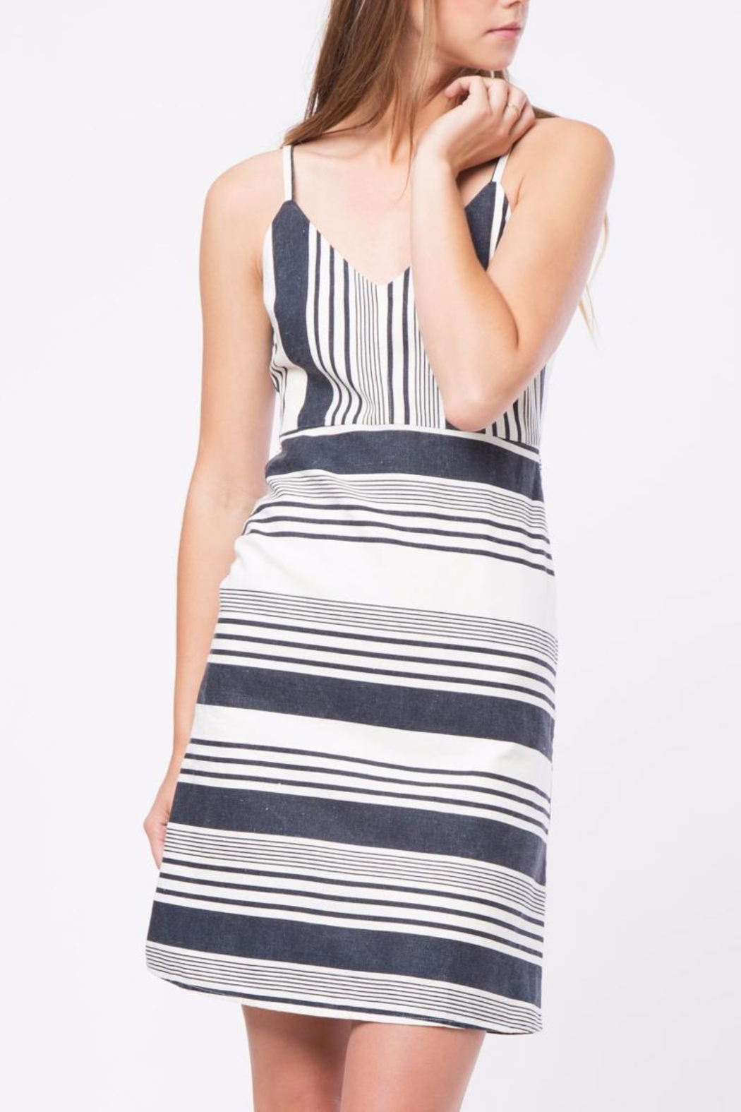 Movint Striped Knee Length Dress - Main Image