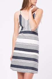 Movint Striped Knee Length Dress - Front cropped