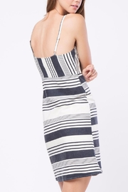 Movint Striped Knee Length Dress - Front full body
