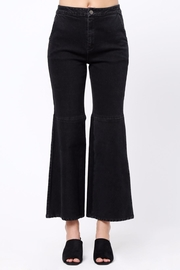Movint Flared Hem Detail Pants - Front cropped