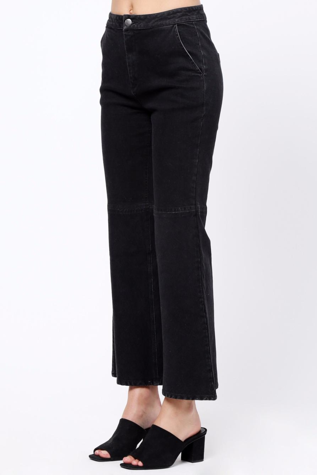 Movint Flared Hem Detail Pants - Side Cropped Image