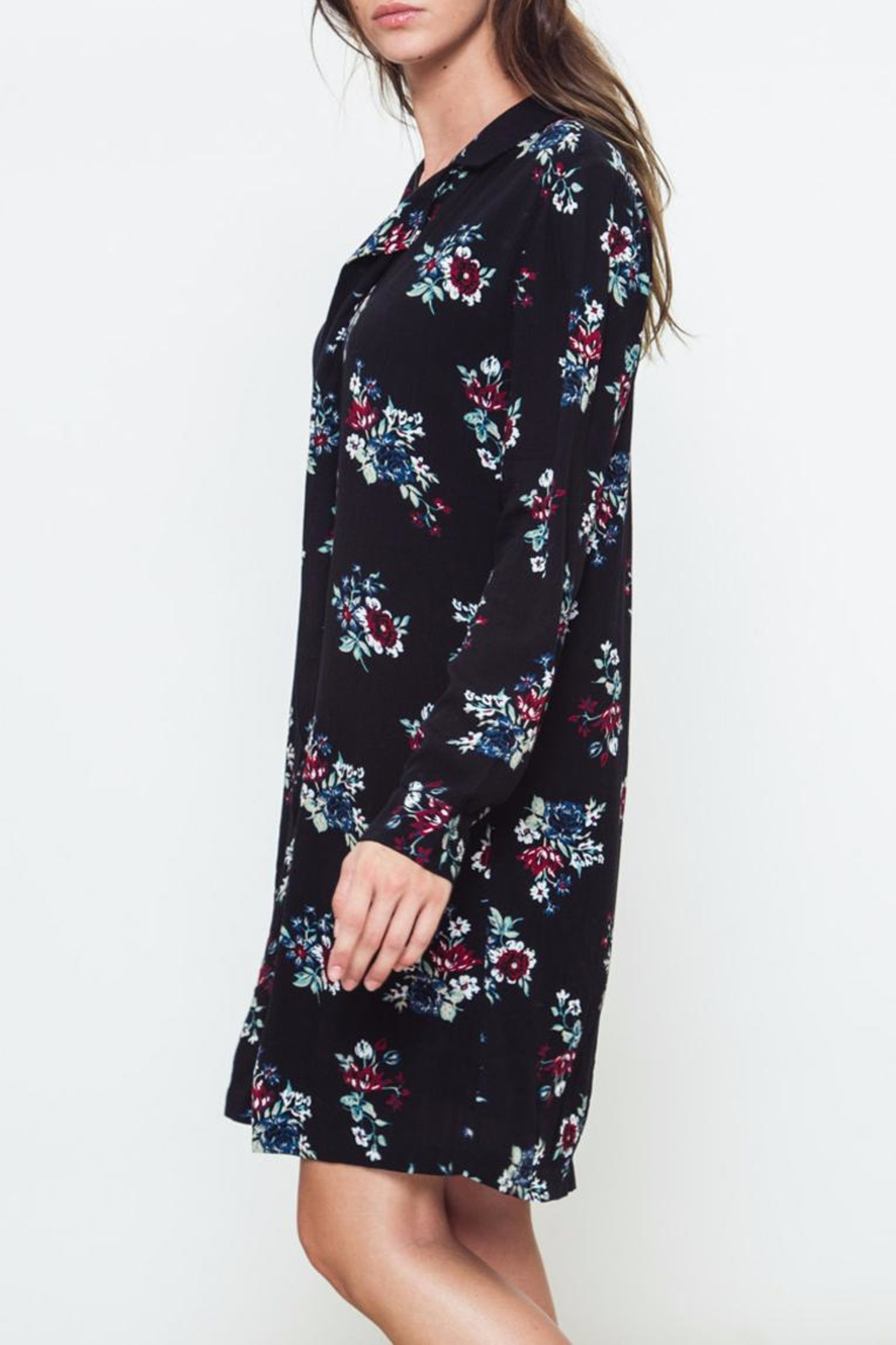 Movint Floral Chiffon Dress - Front Full Image