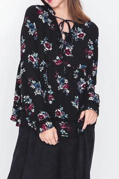 Movint Floral Print Chiffon Top - Product List Image