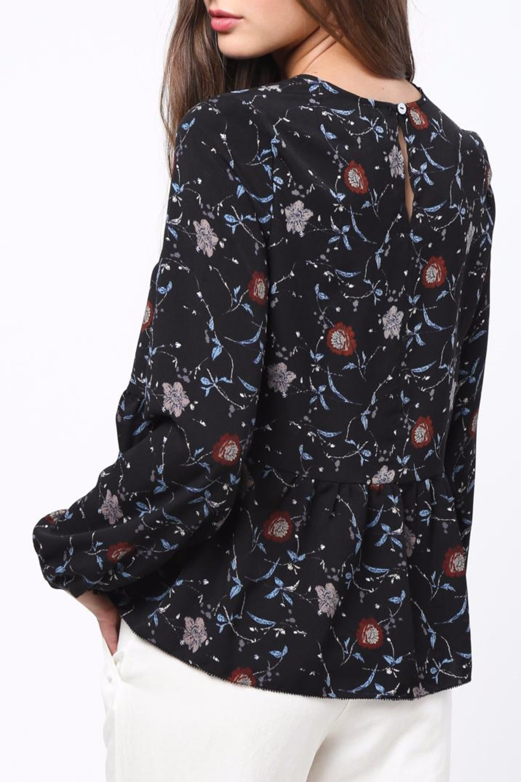 Movint Floral Peplum top - Front Full Image