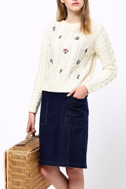 Movint Flower Embroidery Sweater - Front cropped