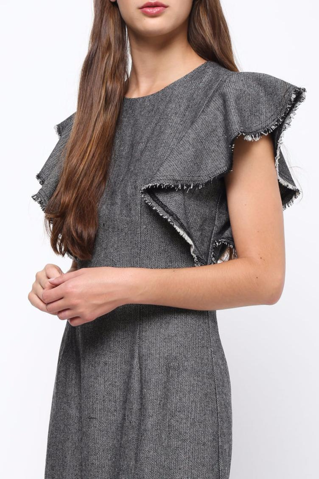 Movint Flutter Sleeved Dress - Back Cropped Image