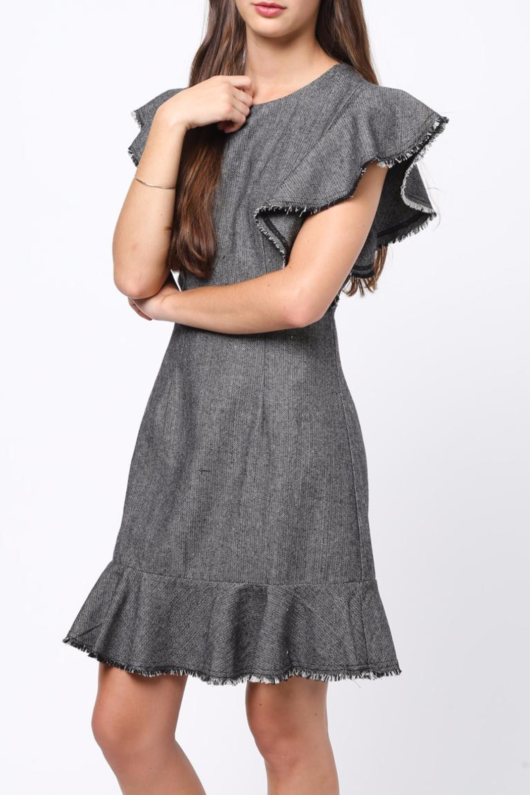 Movint Flutter Sleeved Dress - Side Cropped Image