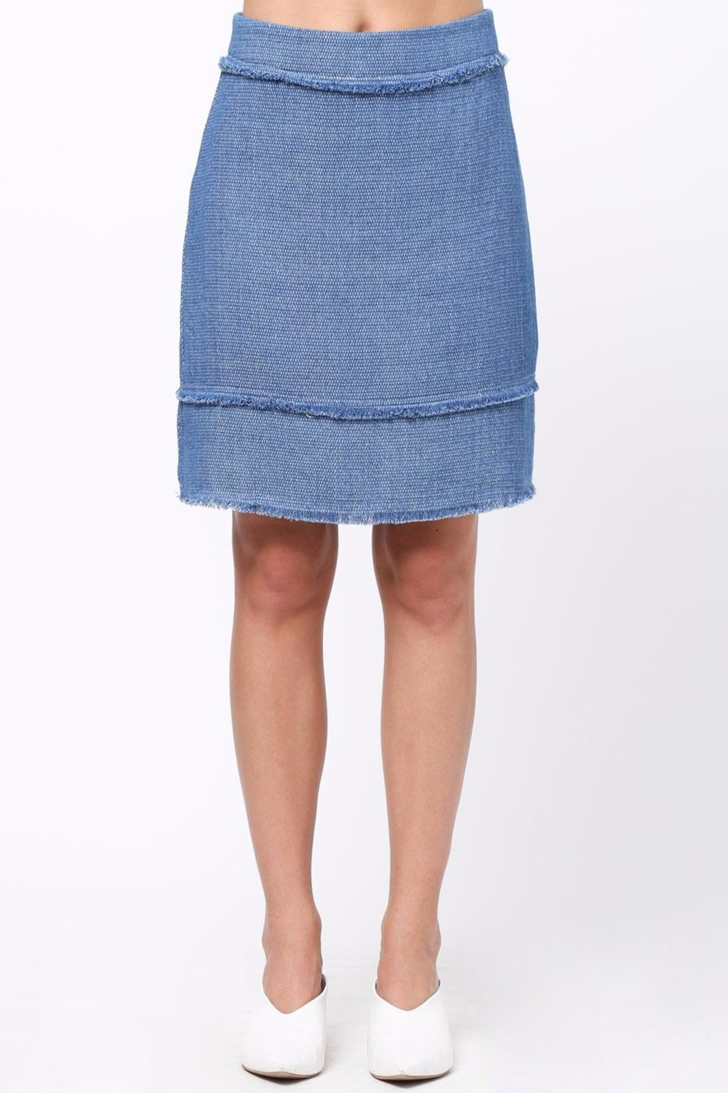 Movint Frayed Detailed Skirt - Front Cropped Image