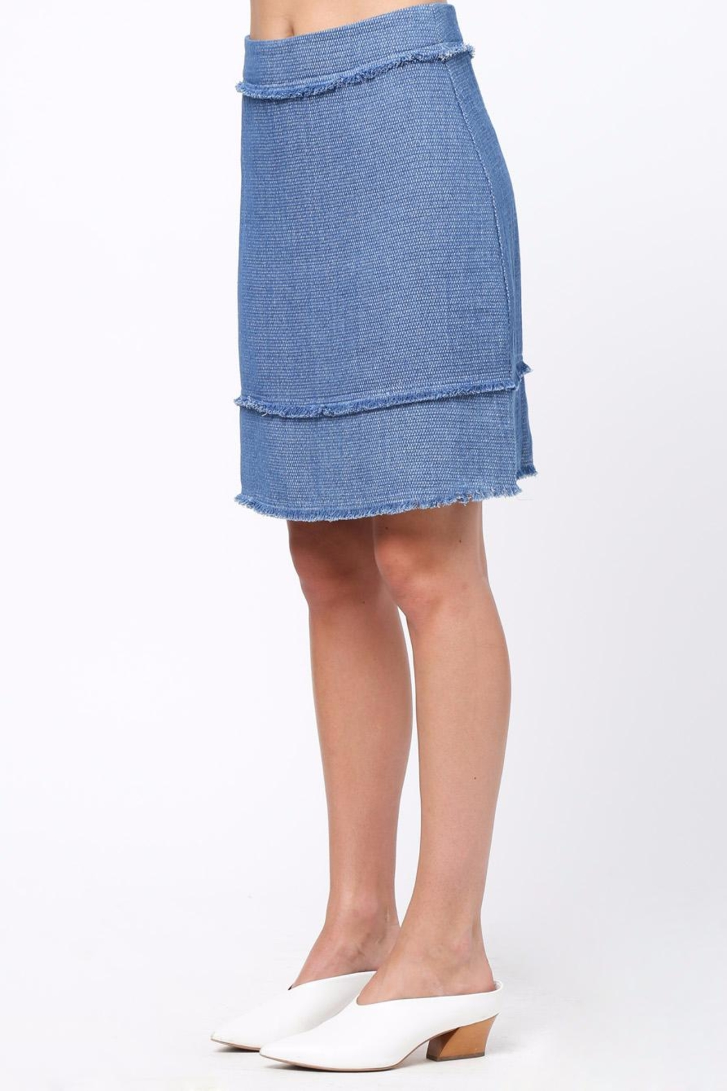 Movint Frayed Detailed Skirt - Side Cropped Image
