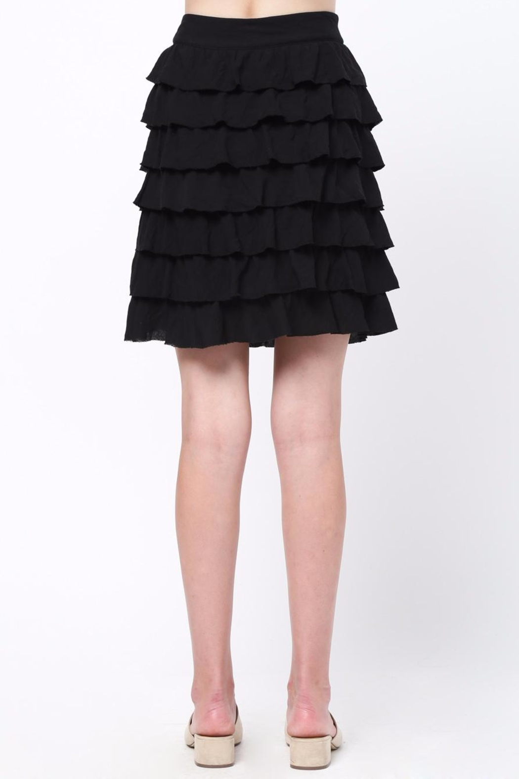 Movint Frayed Hem Ruffle Skirt - Front Full Image
