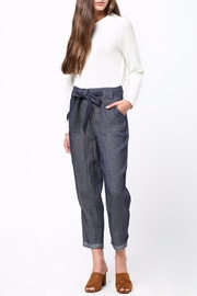 Movint Frayed Seam Trouser - Back cropped